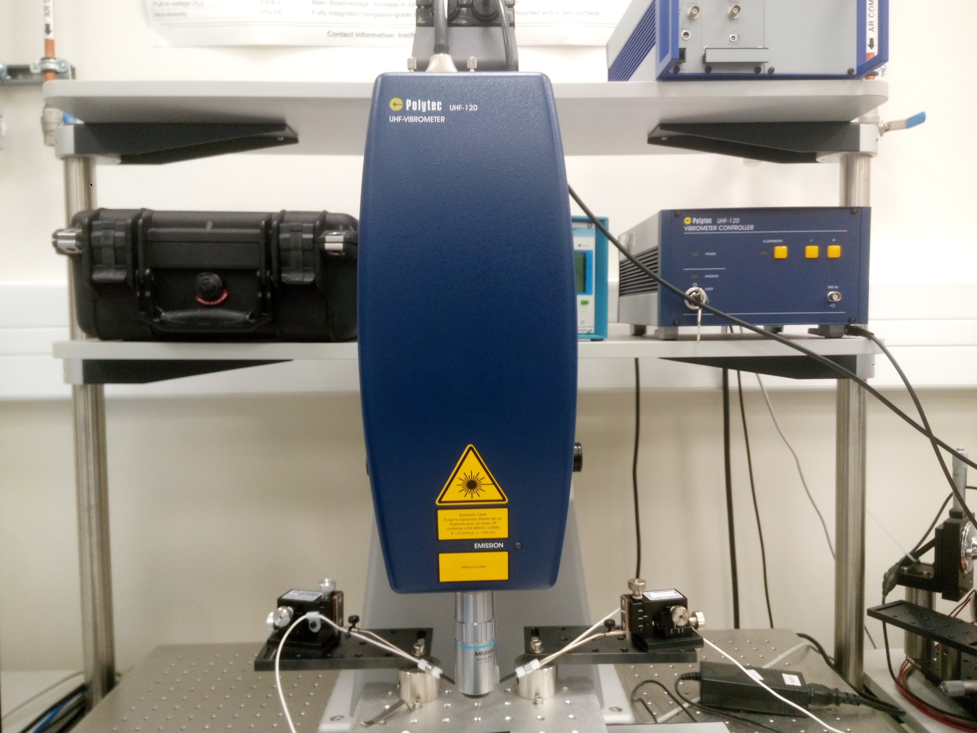 Picture of Ultra-HF Scan. Laser Vibrometer POLYTEC UHF 120