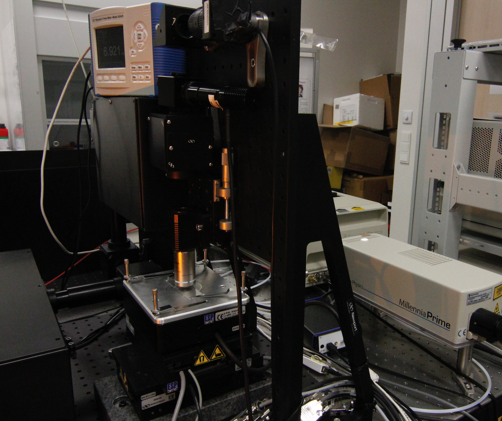 Picture of Microfabrication workstation and ultrafast femtosecond laser
